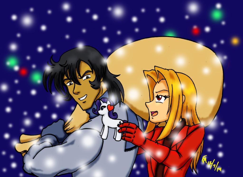 Jon and Amira Christmas 2014 by mayorlight