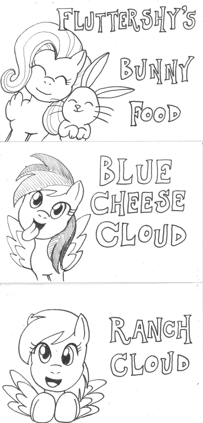 3-28-15 MLP Food Signs by mayorlight