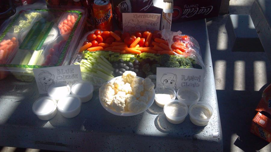 3-28-15 Veggie Platter by mayorlight