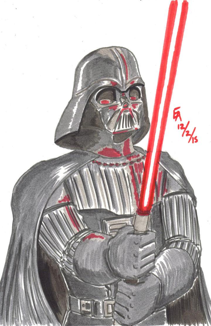 Darth Vader sketch by mayorlight