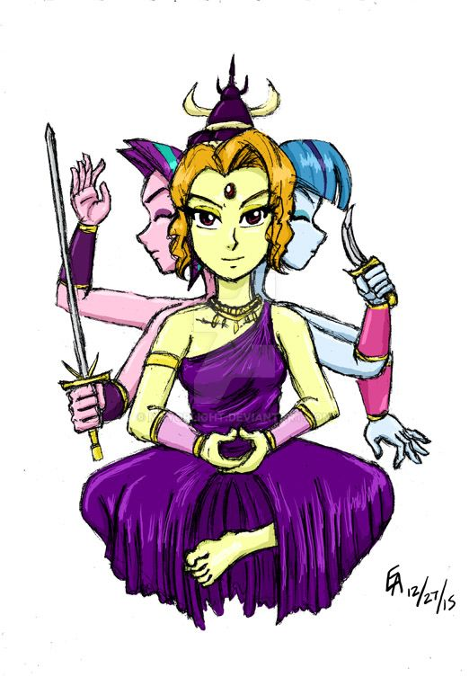 The Dazzlings as Queen Asura by mayorlight