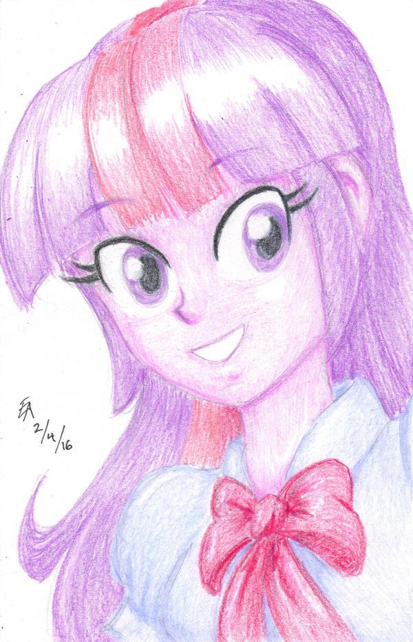 Colored Pencil Portrait - Twilight Sparkle by mayorlight