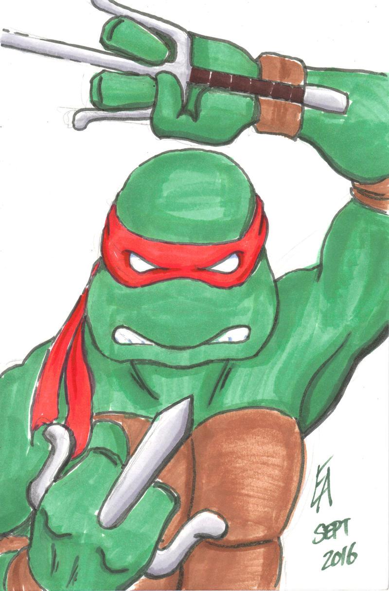 TMNT Raphael sketch by mayorlight