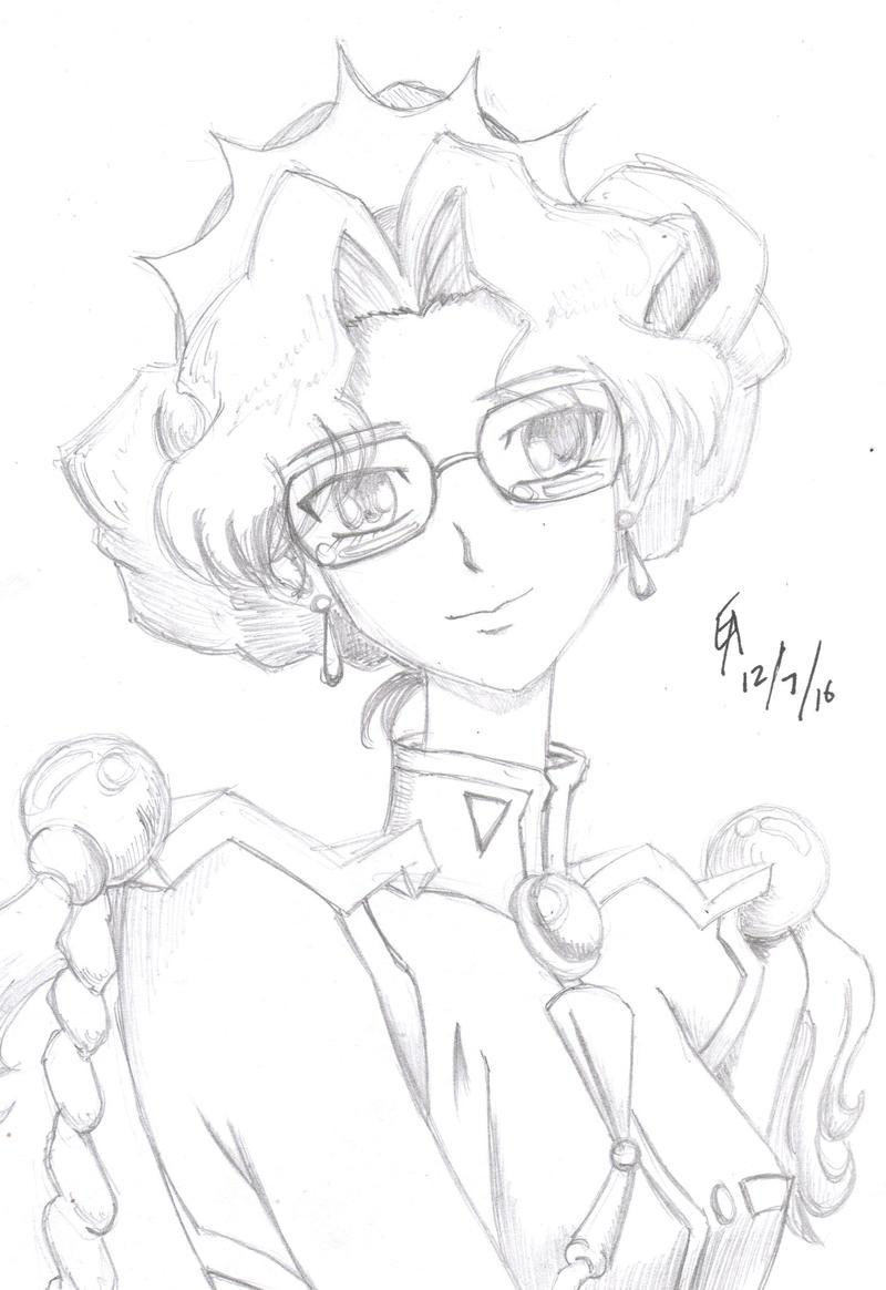 Anthy sketch by mayorlight