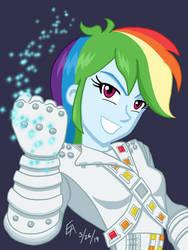 Rainbow Dash as Captain EO by mayorlight