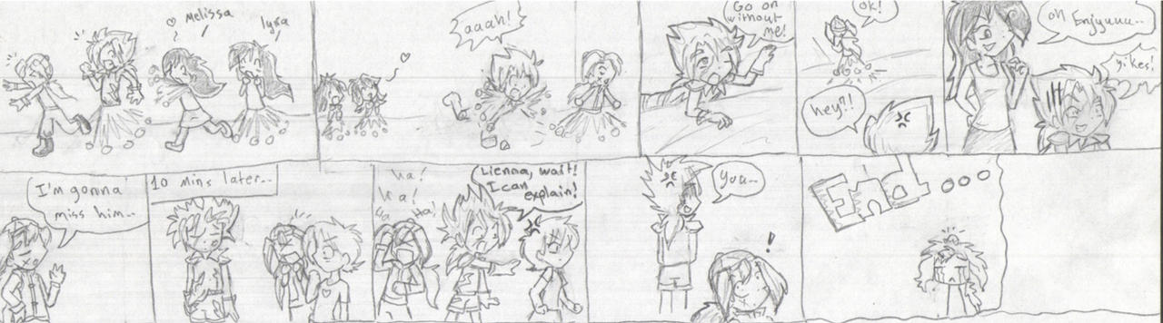 Enjyu and Wen: in Trouble XD by firehorse6
