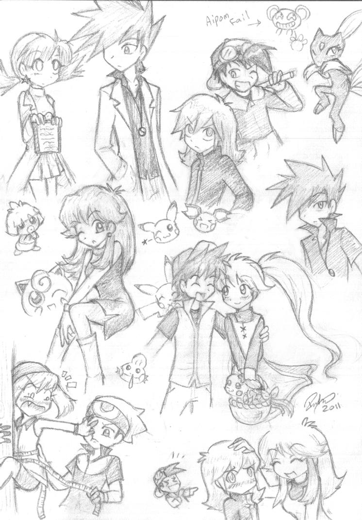 Pokespe Sketch Dump by firehorse6