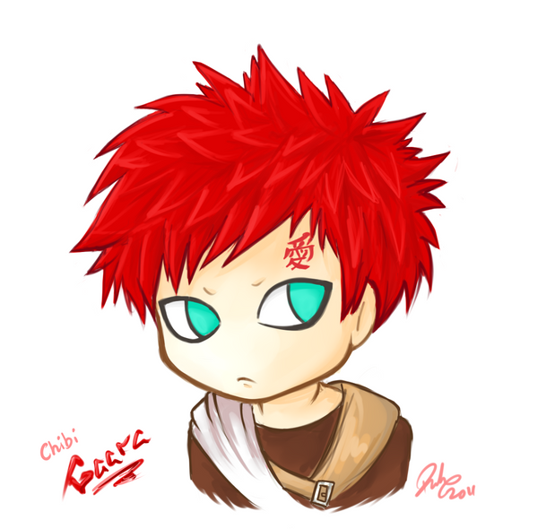 Chibi Gaara by firehorse6 on DeviantArt Gaara And Naruto Chibi