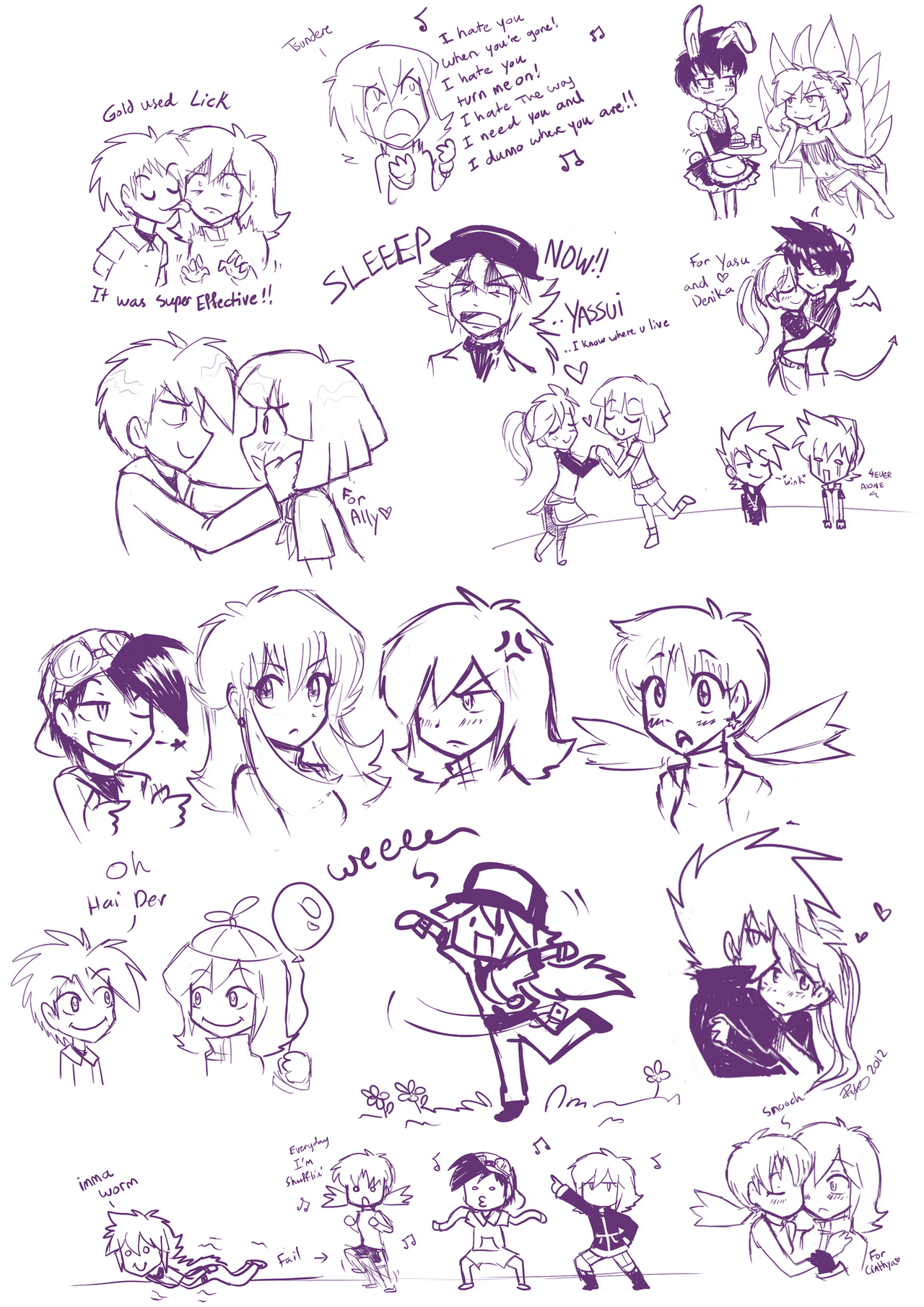 Pokespe Livestream Doodles by firehorse6