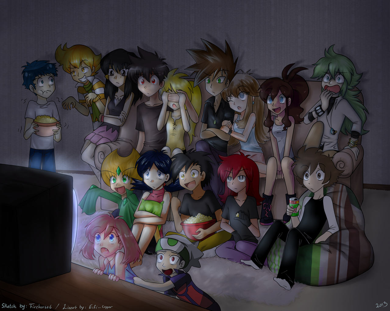Pokespe  Movie Night Collab By Firehorse6 On DeviantArt