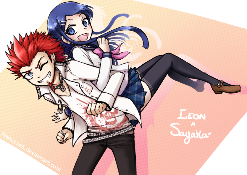 .:Leon x Sayaka:. by firehorse6