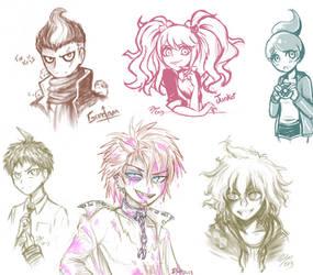Dangan Doodles by firehorse6