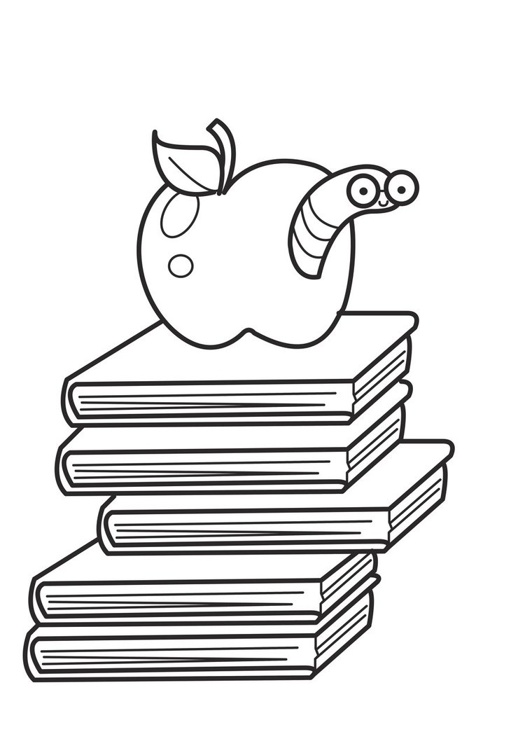 Book worm coloring pages - Bookworm Page 5