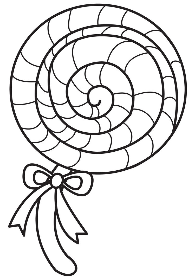 Holiday Coloring Pages Lollipop Coloring Page Free Printable