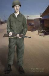 Grandpa Korean War Military Painting by uzersname
