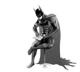Batman Practicing His Detective Skills