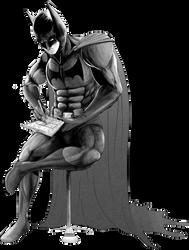 Batman Practicing His Detective Skills (No BG)