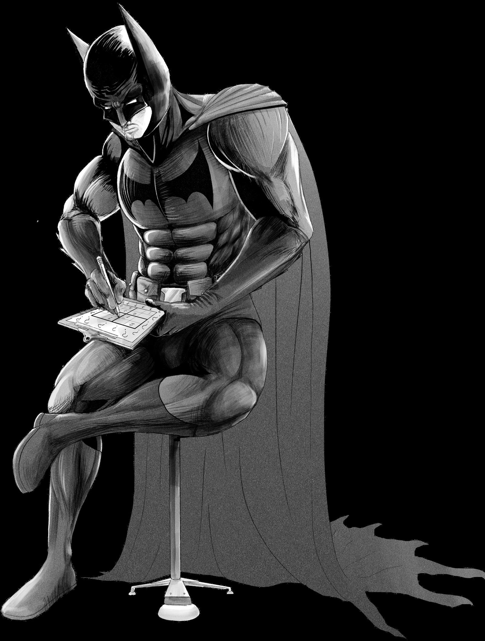 Batman Practicing His Detective Skills No Bg By Uzersname On Deviantart