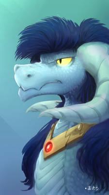 Blue Dragon + Speedpaint