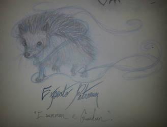 Hedgehog Patronus by gypsyv03