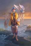 Fisherman With Bird
