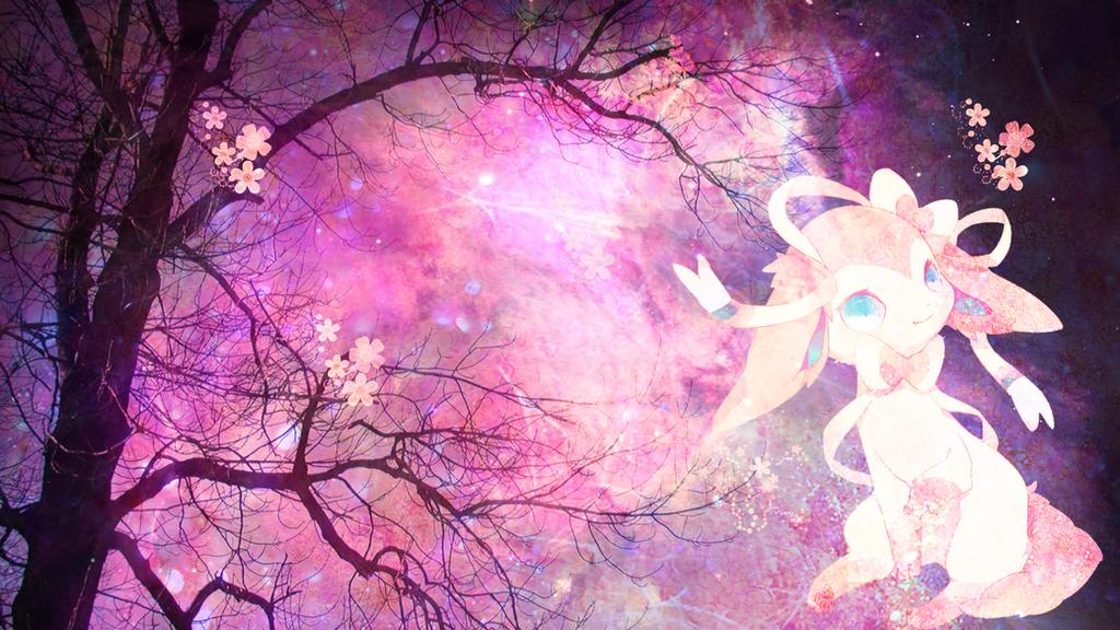 Sylveon Galaxy Wallpaper By Nialondo