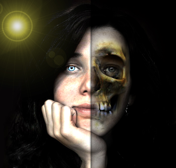 Two Sides To A Human Face By Amiolas On DeviantArt