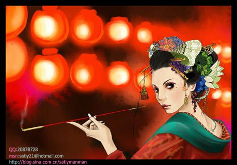 Geisha by gracezhan