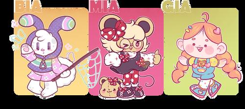 Bia,Mia and Gia-CLOSED by Sundaesy