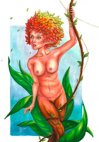 Tree girl by Obscure-Beauty