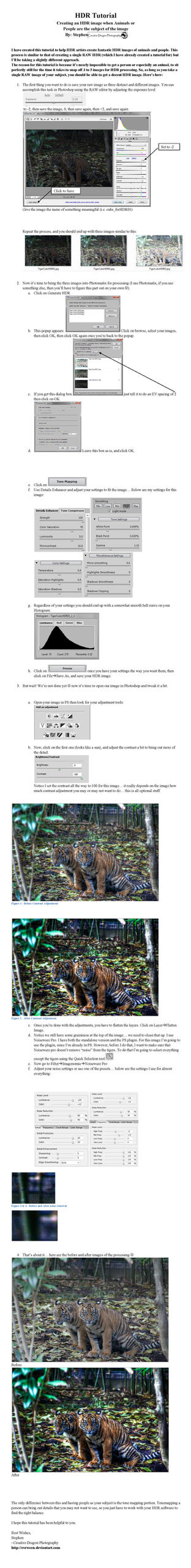 HDR Tutorial Animals People by Creative--Dragon