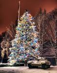XMas Tree and Russian Tank HDR