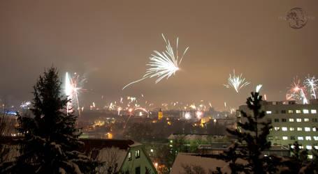 Waiblingen NewYear Fireworks 1