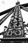 Budapets Liberty Bridge HDR BW