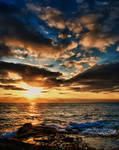 San Diego Ocean Sunset HDR