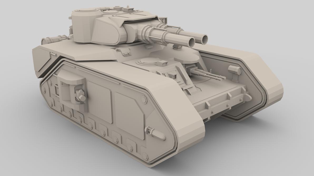 Macharius super heavy tank by 3liteChomp