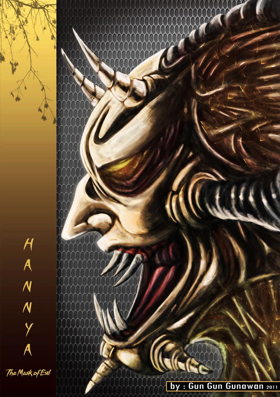 hannya the mask of evil by theblackcreator