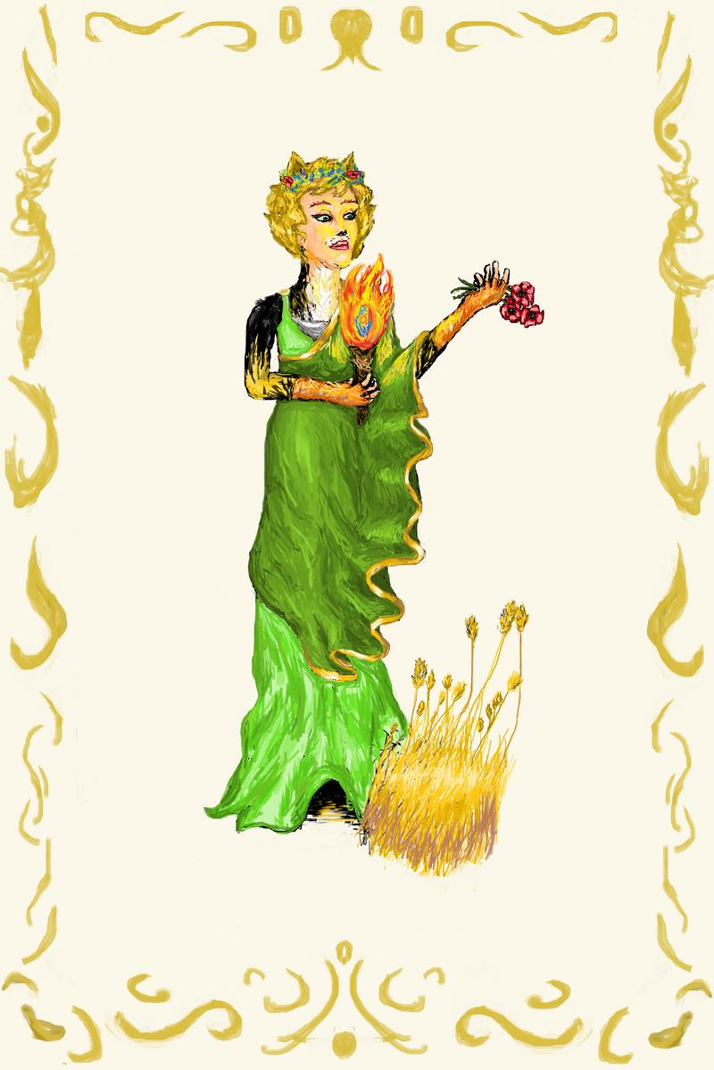 The Goddess Demeter by Dawning-Rose on DeviantArt