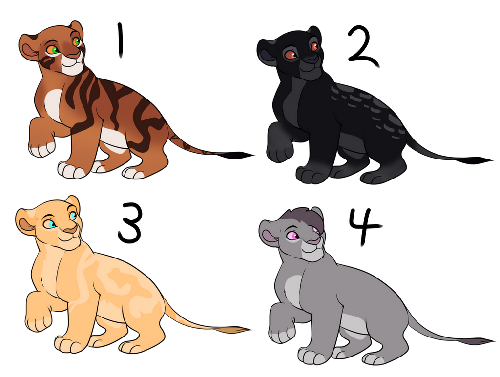 Open (1/4) Adoptable cubs by Wolfmylove04