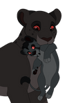 Shadow Lions~Closed~Mother and cub lion adoptables