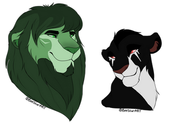 Open OTA (2/2) ~ adoptable lion headshots ~ 5 ~ by Wolfmylove04