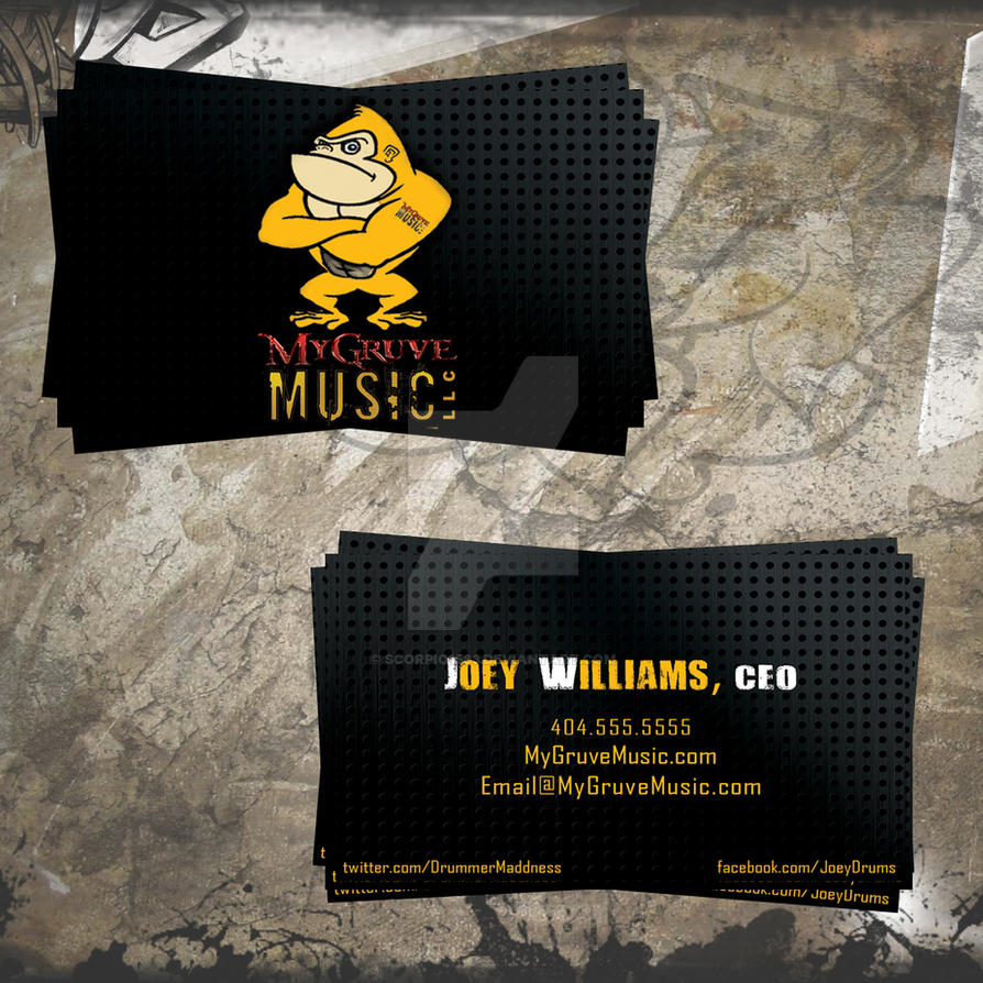 MyGruveMusic Business Cards by scorpio1583