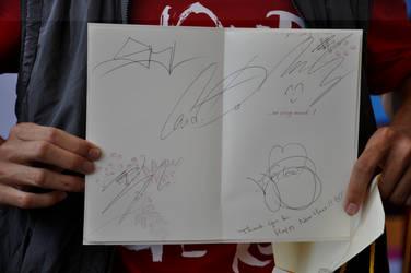 Big Bang signed greeting card by G-Riluv