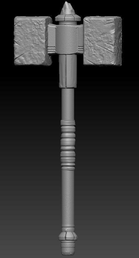 Speedy Hammer Model and Sculpt