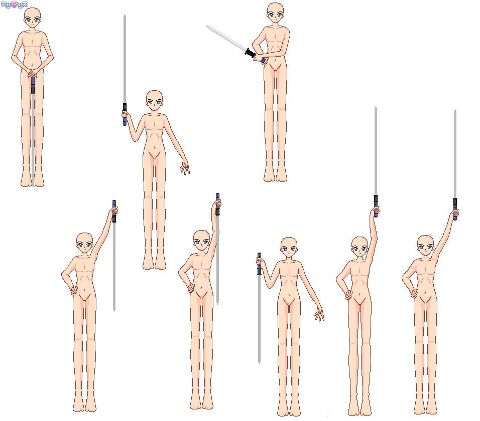 Holdign Sword Base-frontal Boy by sailorx161 on DeviantArt