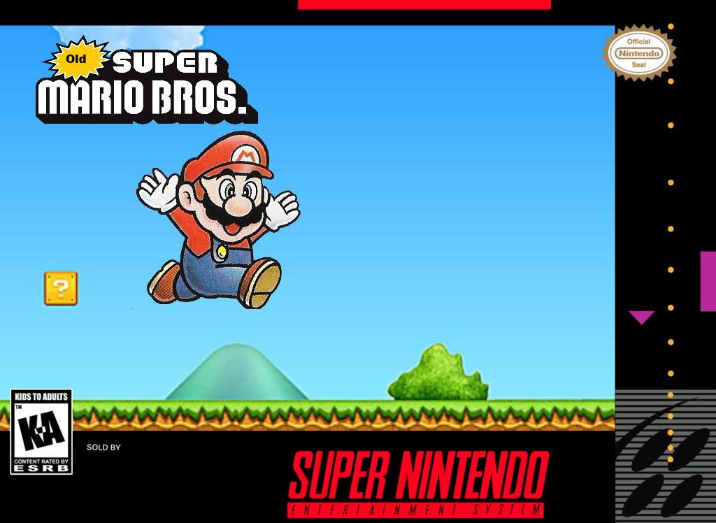 Old Super Mario Bros Box Art by Guscraft808Beta2