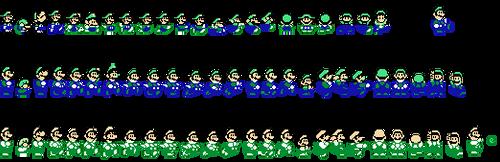 Super Mario World Custom Sprites:NES Pirate Luigi by Guscraft808Beta2