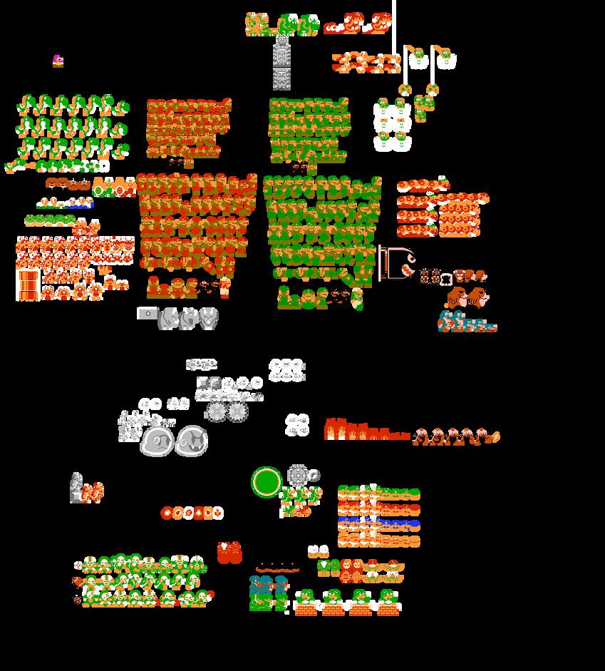Super Mario World Sprites in Super Mario Bros. by Guscraft808Beta2
