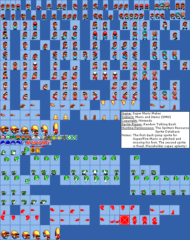 Super Mario World MS Paint Recolors by Guscraft808Beta2