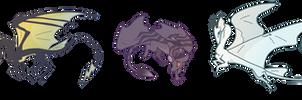 dragons chibi stickers